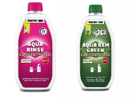 комплект средств Aqua Kem Green Concentrated и Aqua Rinse Concentrated